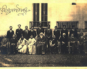 Prominent-Degnitaries/With-Ravindramath-Tagore-at-Paris/thumb/Group-Photograph-with-Rabindranath-Tagore-at-Paris-sitting-3rd-from-rightTB.jpg